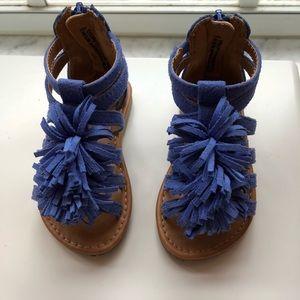 Cat and Jack blue zip back sandal.